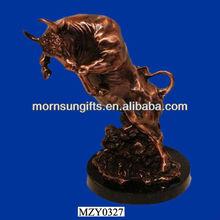 Vintage Handmade Buffalo Rising up Sculpture,Buffalo Figurine