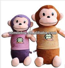 big mouth monkey pillow stuff cotton pillow