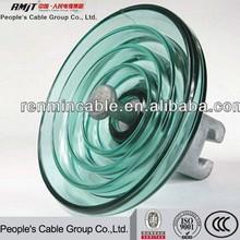 Toughened glass suspension insulator/glass insulator