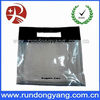 Clear pvc packing bag with die cut handle for shopping