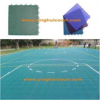 O-01 Outdoor Interlocking Modular Plastic Basketball Floor Tile
