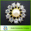 Gold Pearl and Rhinestone Brooch Pins,Rhinestone cluster,rhinestone embellishment for Wedding