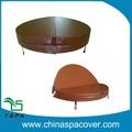 Extérieure couverture de piscine pour alunmium électrique massage de luxe lumière poids chaud baignoire