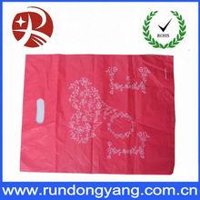 Thick Low Density Polyethylene Die Cut Handle Plastic Retail Shopping Bags