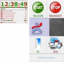 cronUP! Time Attendance software for Shops, Help Desk, ... using a USB Biometric fingerprint Reader