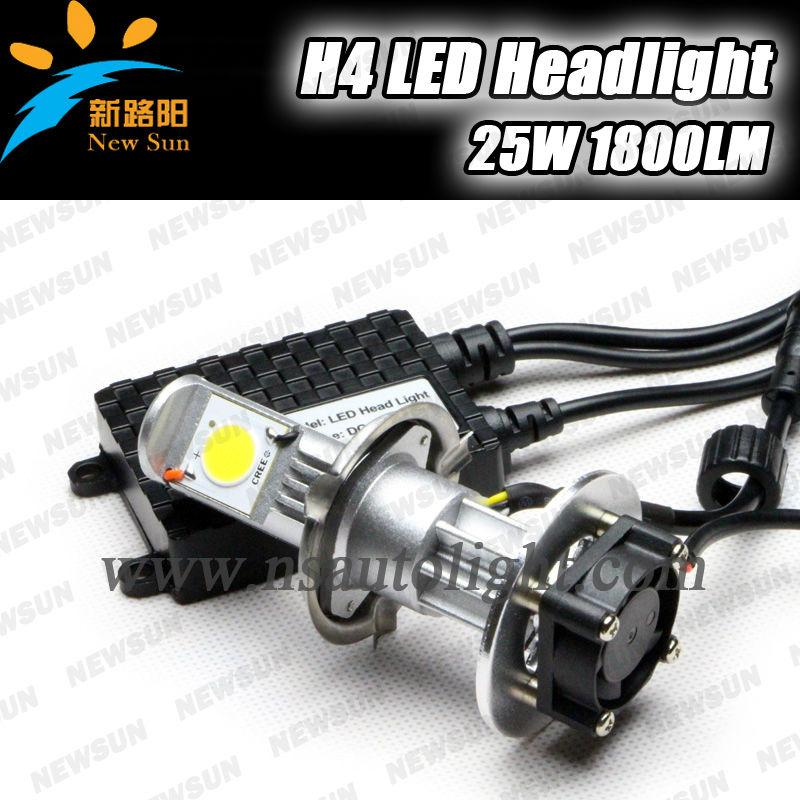 China New H4 led headlight replace xenon hid kit! hot sale 12v 24v Auto Headlight C ree Chips car led headlight