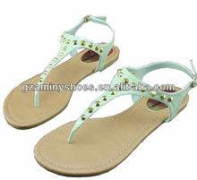 2013 studded flat sandals