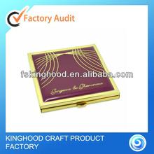 Hot sales square gold epoxy square compact mirror/hand mirror
