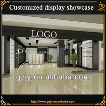 CAD drawing supported retail store fixture design for retail clothing store design