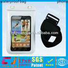 high quality waterproof wallet case for samsung galaxy note i9220 case with armband with IPX8 certificate for swimming