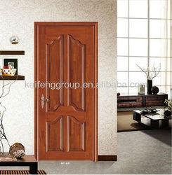 Solid wooden door exterior with simple design KFW-088