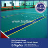 hot sales indoor University's refurbished basketball gym rubber flooring