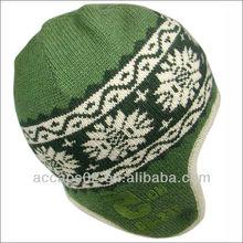 Custom warm acrylic earflap hats