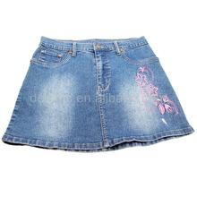 CJ-062 original design top girls sexy women denim embroidered short skirt