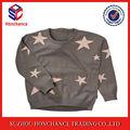 la novedad estrella patrón centro espalda con cremallera suéter suéter de punto para bebés