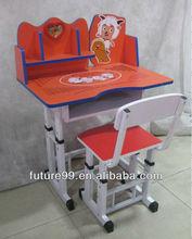 Children furnitur study desk and chair set