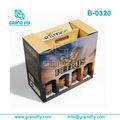 pop pacote de caixas de papelão ondulado de loja de varejo mostrar estantes