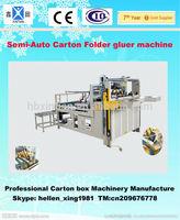 Semi automatic Carton folder gluer machine
