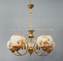 crystal pendant lamp,white glass chandelier/good price