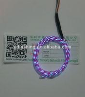 EL running wire,super bright neon light purple el running wire