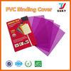 PVC book binding cover PVC cover plastic sheet hard plastic book cover