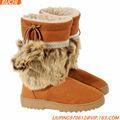 zapato de señora botas de piel de invierno de arranque para las mujeres