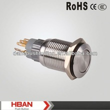 CE ROHS emergency stop pushbutton switch