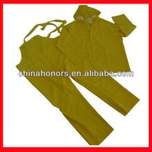 2015 NEW Yellow industry traffic PVC rain coat