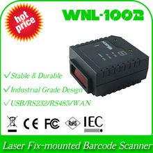 UPC program WNL-1002 LR 1D Laser Stationary Fix-mounted QR bar code Barcode Reader Scanner USB+Auto Trigger Scan identify device