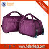 Purple wheels travel time trolley bag for winter holiday