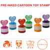 Glittering Diamonds Bright Cartoon Rubber Stamp for Kids