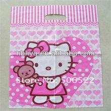 Grocery printed shop plastic pink color bag