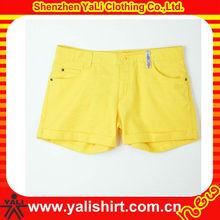Cheap top quality comfortable plain cotton casual slim women wholesale booty shorts