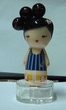 3D dream girl doll perfume bottle cap