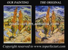 Impressionist artist painting on linen canvas