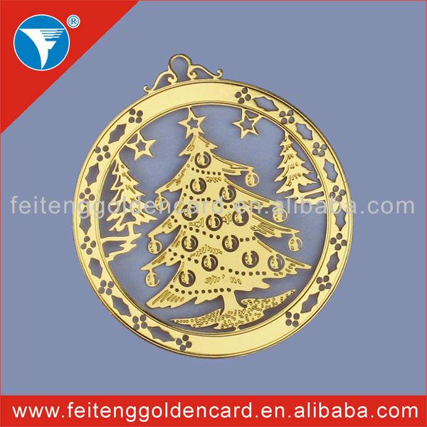 Christmas Decorative Golden Felt Ornament