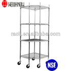 Adjustable 4 Tiers Metal Pentagon Commercial Corner Shelf Rack,NSF Approval