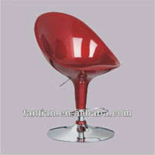 hot sale morden red ABS adjustable swivel bar chair/bar and cafe matel furniture