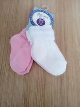 High quality pure cotton baby girl socks