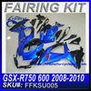 Motorcycle Headlight Fairing For SUZUKI GSX-R750 600 2008-2010 BLUE&BLACK FKSU005