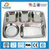 multi parts children rectangular stainless steel divided plate