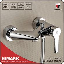 Chrome brass wall mounted bath/shower mixer