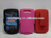 holster cell phone case for blackberry bb9800,9810 with swivel belt clip