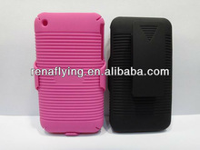 New holster cell phone case for iphone 3G,3GS with swivel belt clip