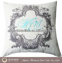 digital printing linen embroidery cushion