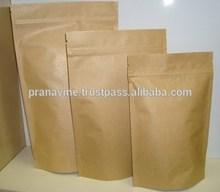 Stand Up Kraft Paper Food Bag