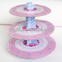 So hot! 3 tiers paper cupcake stand cake holders cupcake display stand