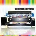 Impressora de sublimação de poliéster 1440 dpi 1.8m/3.2m cortina/lençol/toalha com dx7 epson cabeça de impressão de grande formato plotter