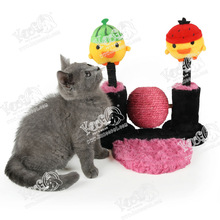 2015 New Style Double Upright Ball Cat Scratching