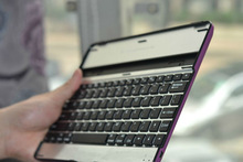 New hot selling for ipad 2 aluminum case with bluetooth keyboard